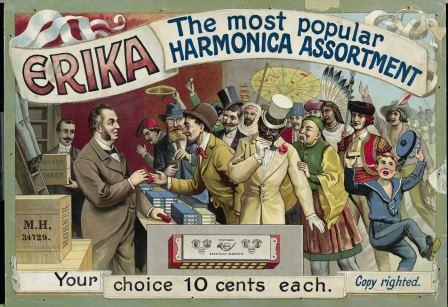 """Erika"", Hohner advertising image, around 1900"